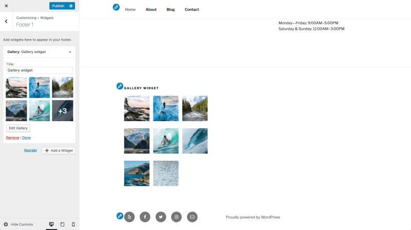New gallery widget WordPress