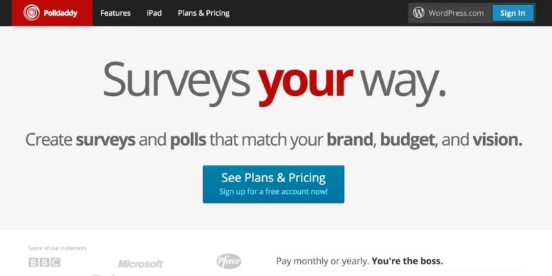 Online survey software PollDaddy