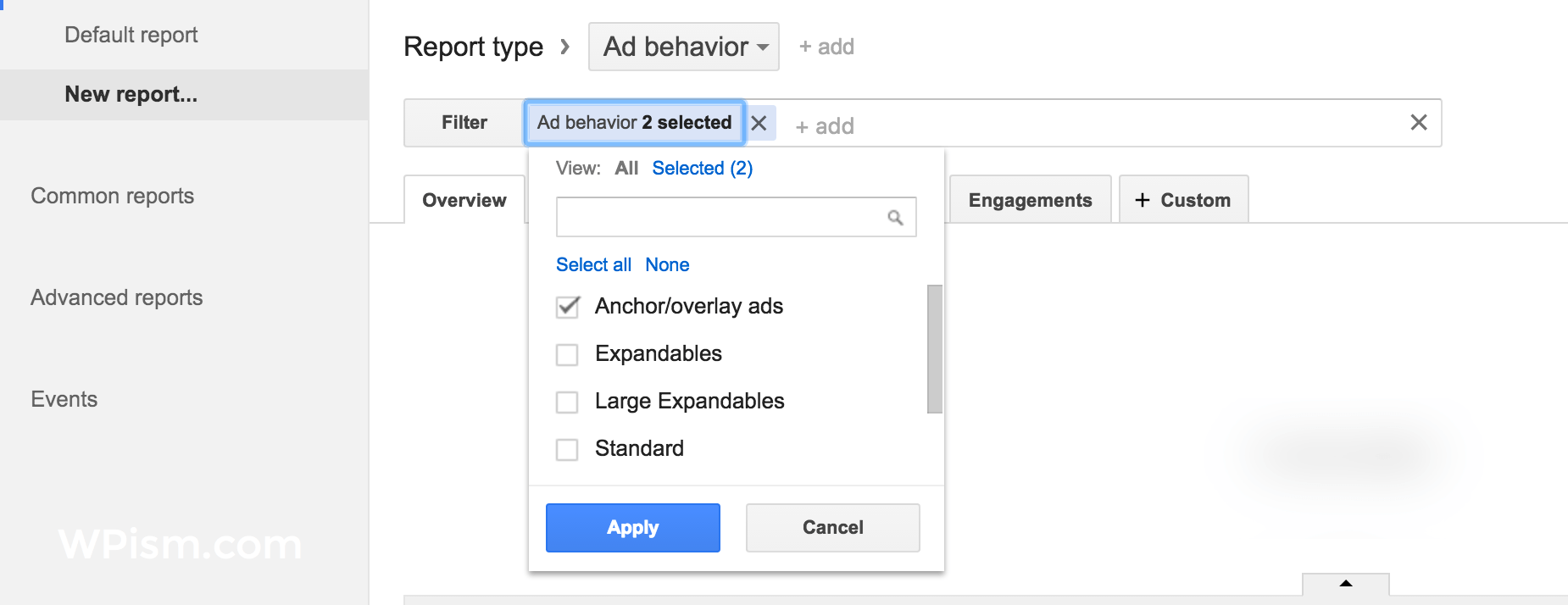 Page Level Ads Report Adsense Dashboard