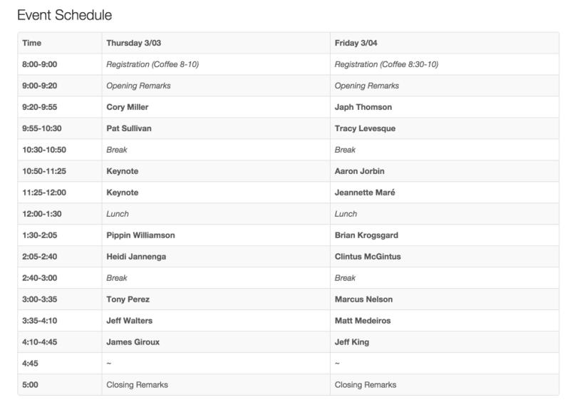 Pressnomics Schedule 2016