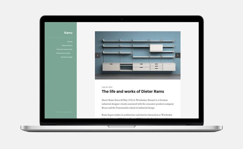 Rams WordPress Theme Medium Style