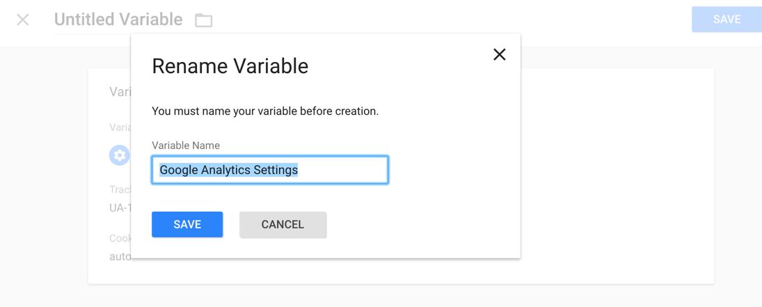 Rename Google Analytics Variable