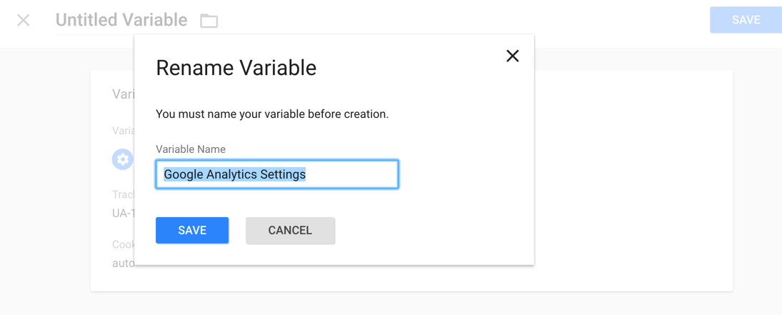 Rename Google Analytics Variable