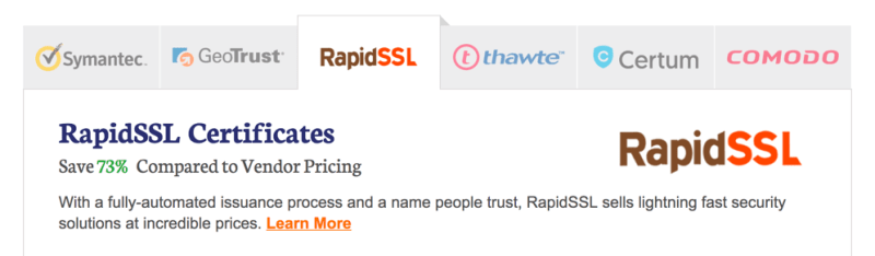SSL Certificates from The SSL Store