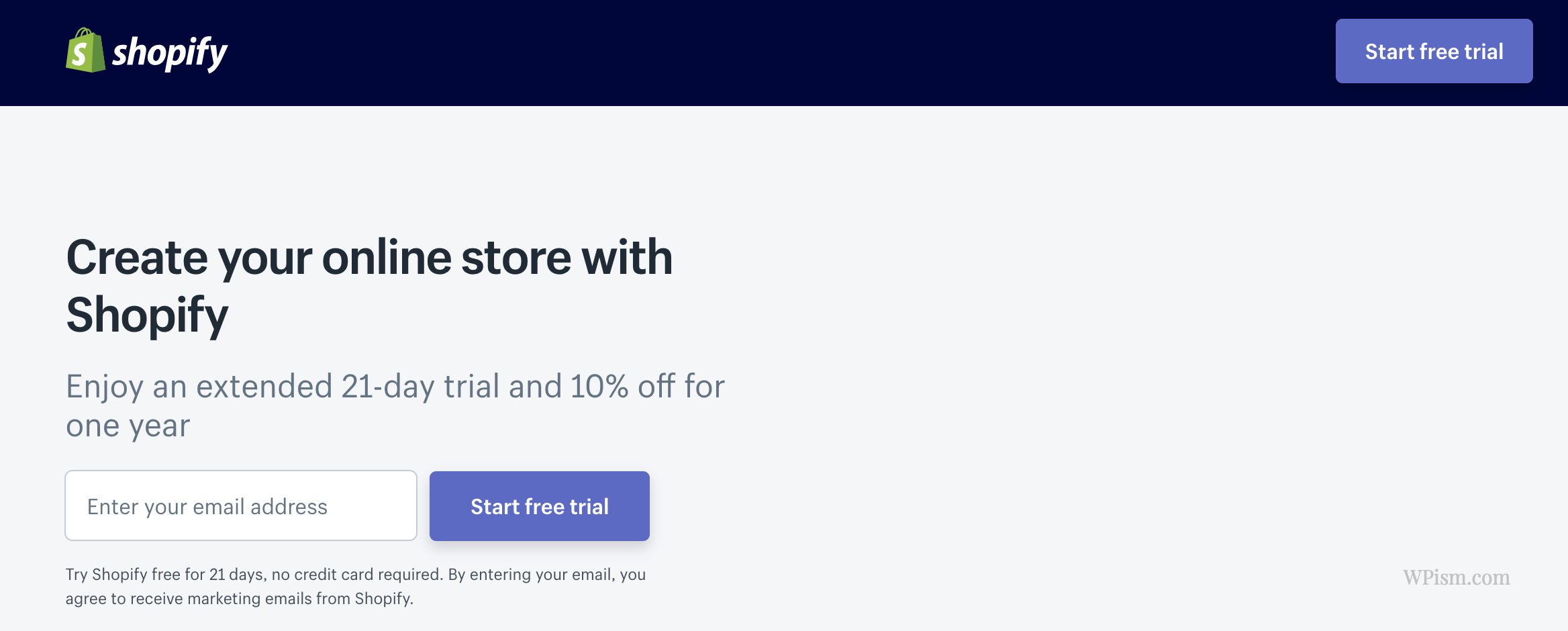Shopify discount code for extended trial