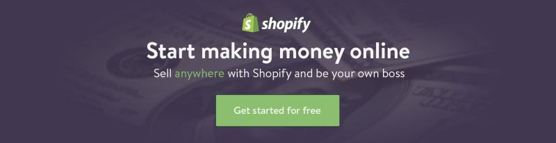Shopify start ecommerce store