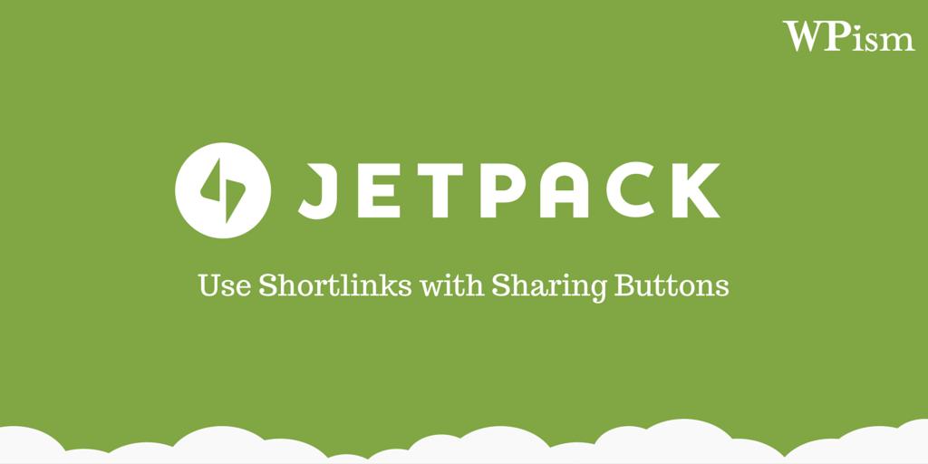 Shortlinks Sharing Buttons Jetpack plugin