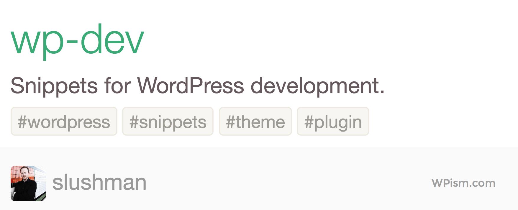 Snippets for WordPress Development Atom Pacakage