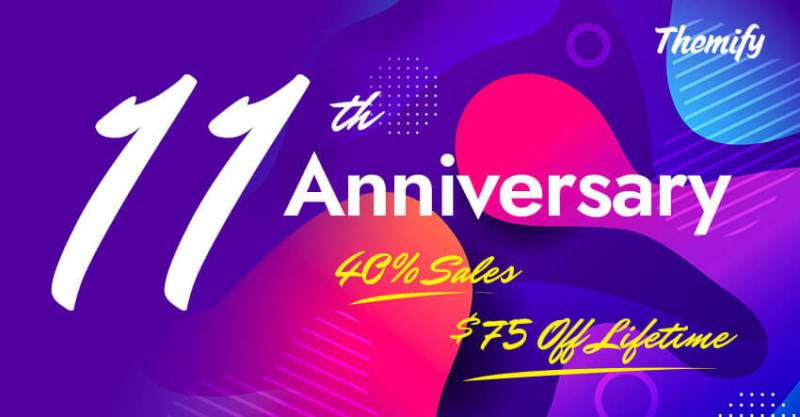 Themify 11th Anniversary 40 OFF Sale Coucpon