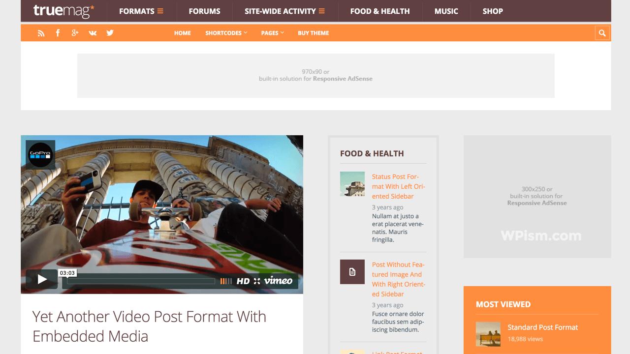 Truemag AdSense Optimized WordPress Theme
