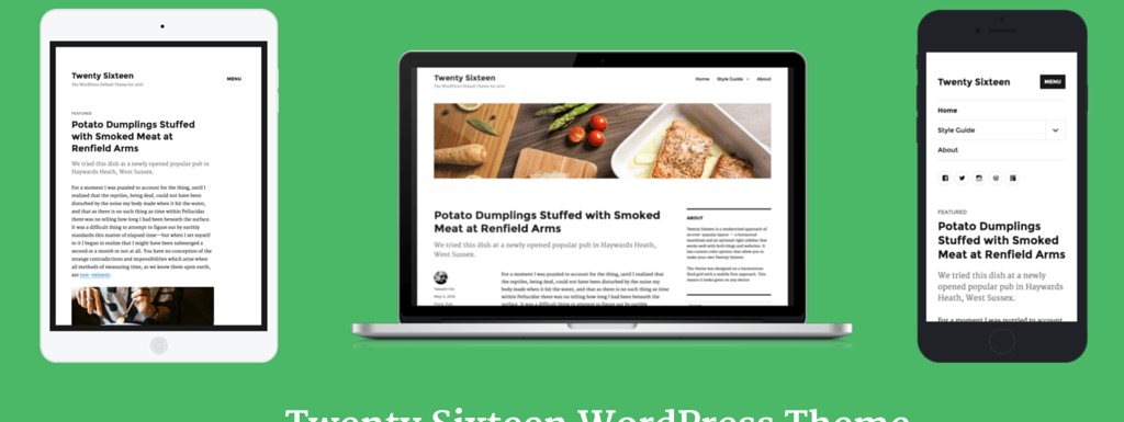 Twenty Sixteen – WordPress Theme for 2016 – First Look