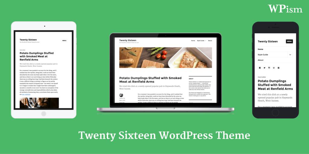 Twenty Sixteen WordPress Theme 2016