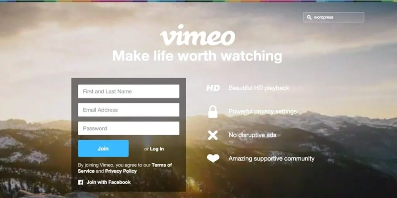 Vimeo Watch WordPress Videos