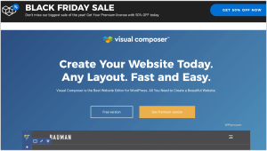 Visual Composer Black Friday Sale