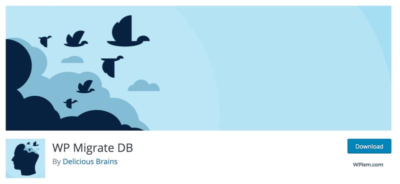 WP Migrate DB Plugin Migration WordPress Free