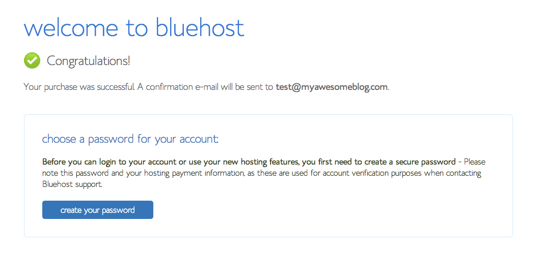 Welcome to Bluehost Blog Hosting Plan
