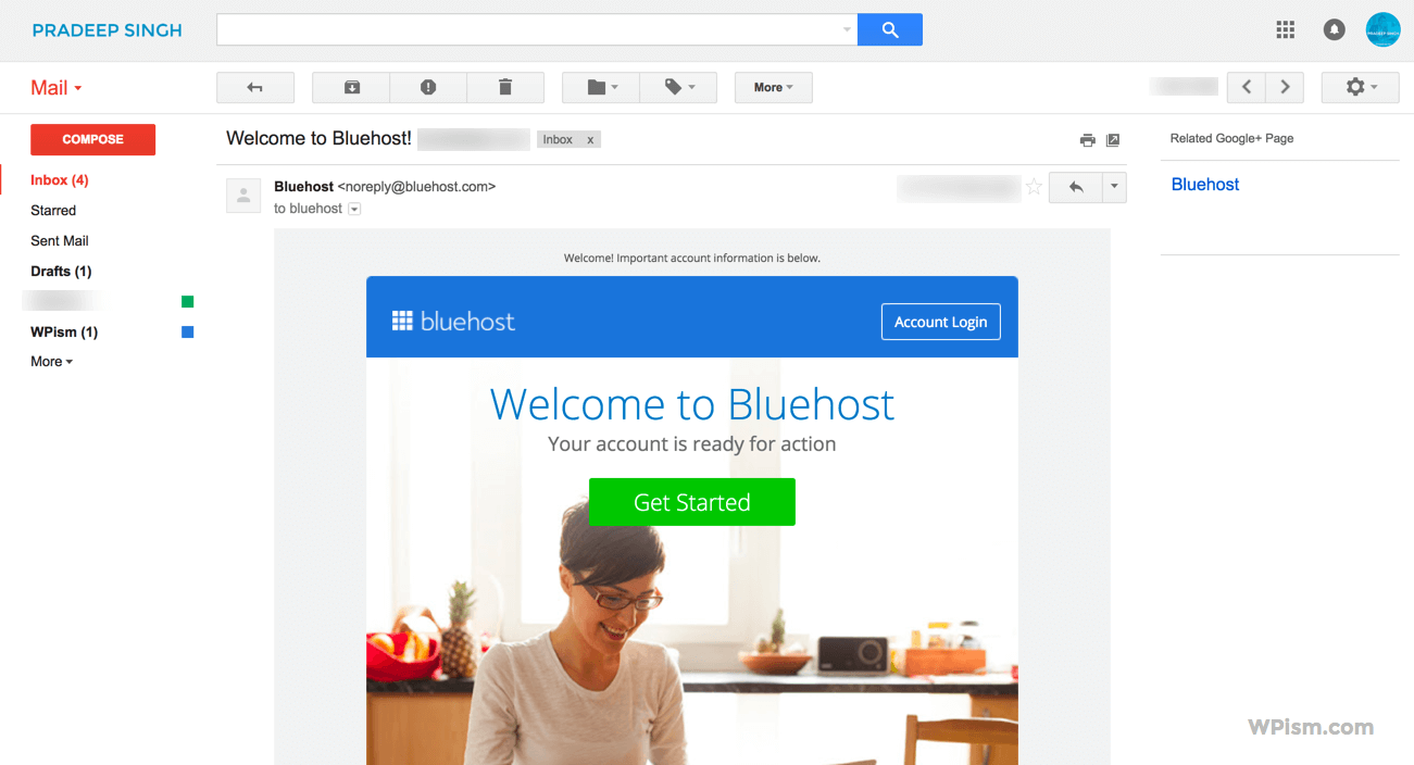Welcome to Bluehost WordPress Hosting Account