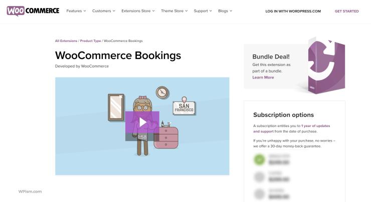 WooCommerce Bookings Plugin WordPress