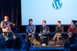 Mike Little, Panel at WordCamp London 2016-3577