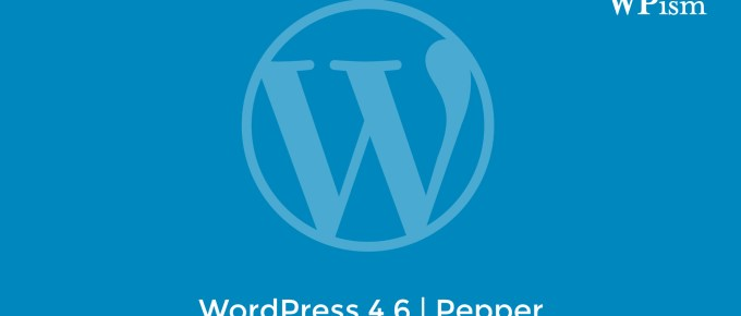 WordPress 4.6 - New Version Release