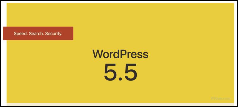 WordPress 5.5 welcome screen dashboard