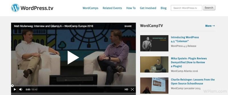 WordPress TV Official WordPress Resource