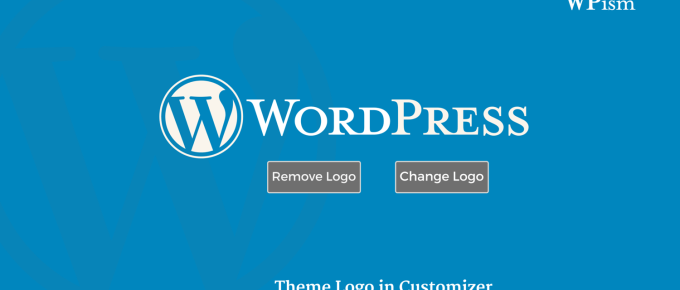 WordPress Theme Logo Customizer Support