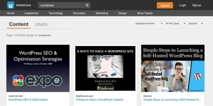 WordPress on SlideShare
