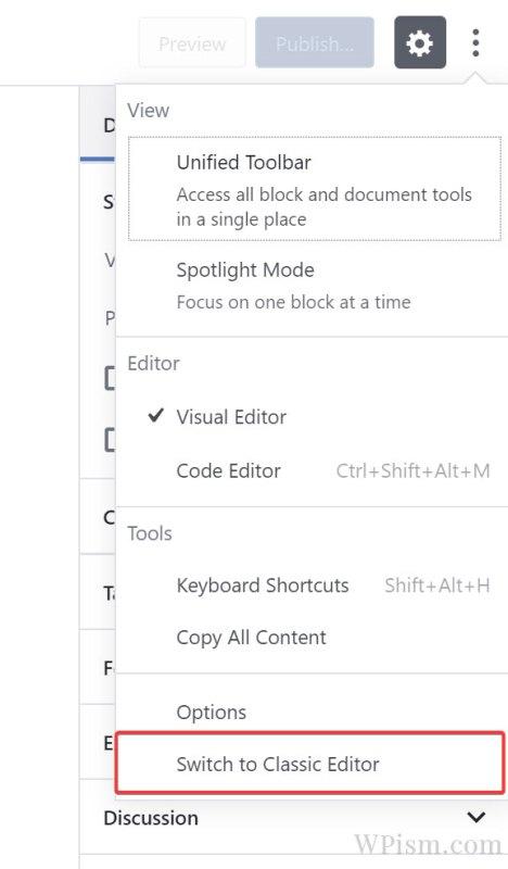 classic-editor-revert-back-WordPress