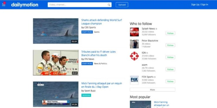 dailymotion video sharing website