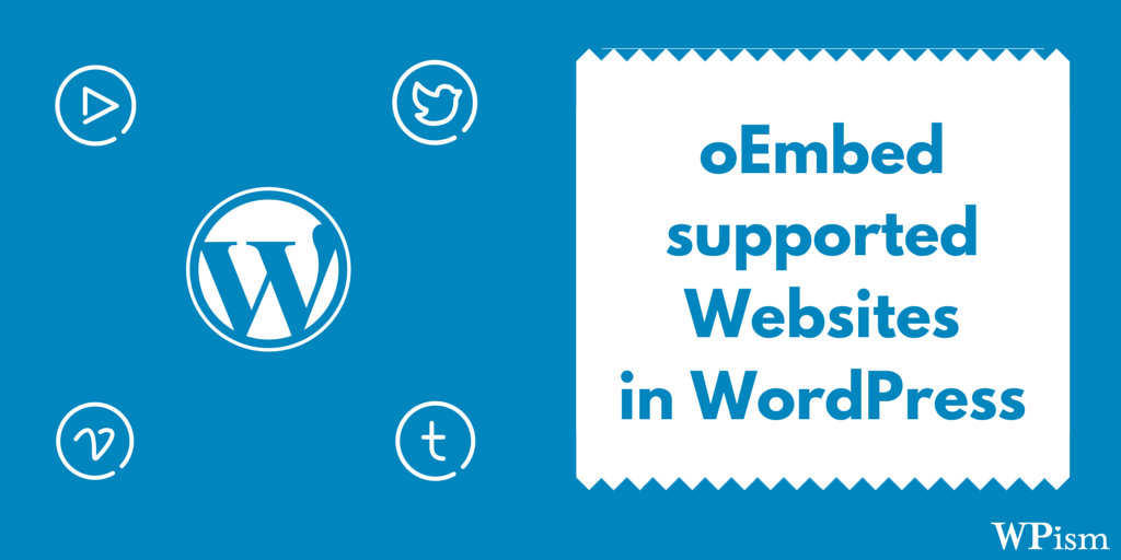 oEmbed Supported websites whitelist WordPress