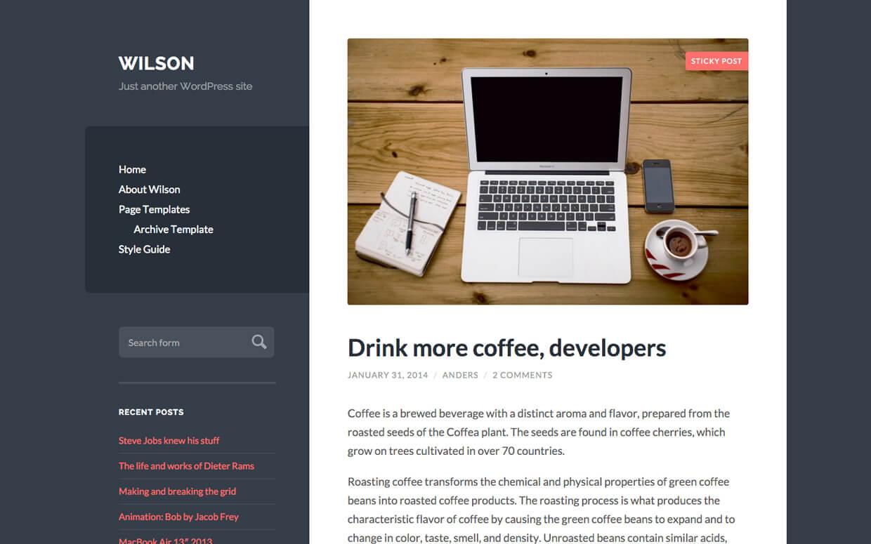 wilson WordPress Medium Theme