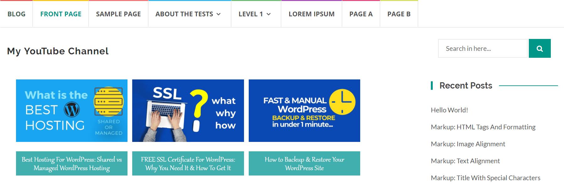 將YouTube視頻添加到WordPress的3種方法:視頻。頻道+更多 - WP建站