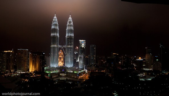 petronas towers panorama