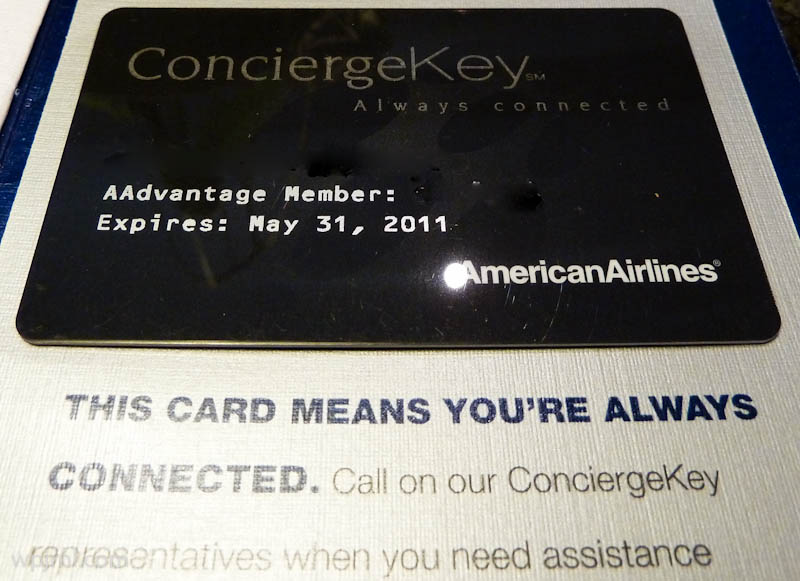American Airlines Concierge Key Card