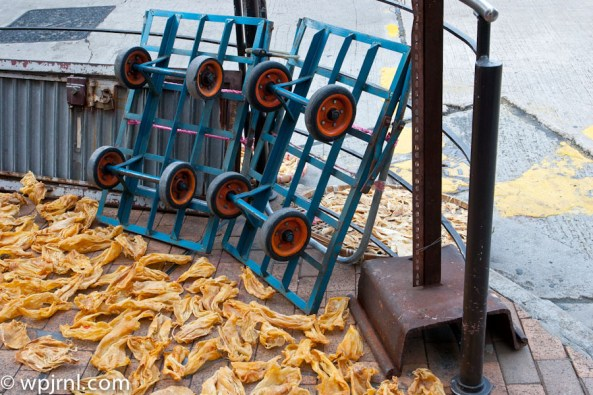 drying food on the streets - Hong Kong Streets
