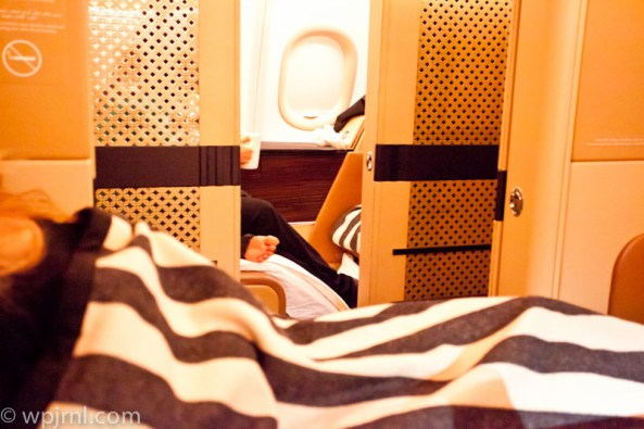 Etihad Airways New York to Abu Dhabi First Class - Bed
