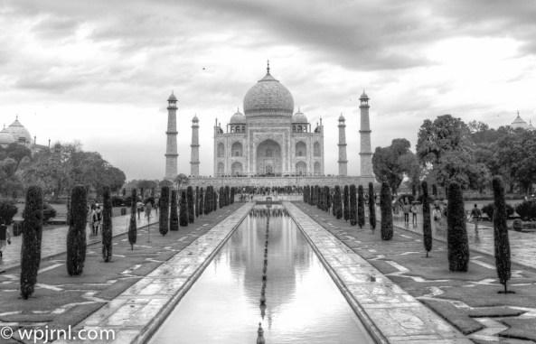 Taj Black and White - taj mahal