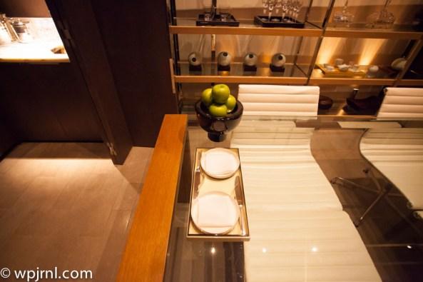 Park Hyatt Shanghai Diplomatic Suite - dinning table