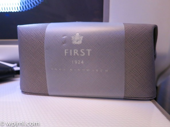 New British Airways First Class London to Miami - Amenity