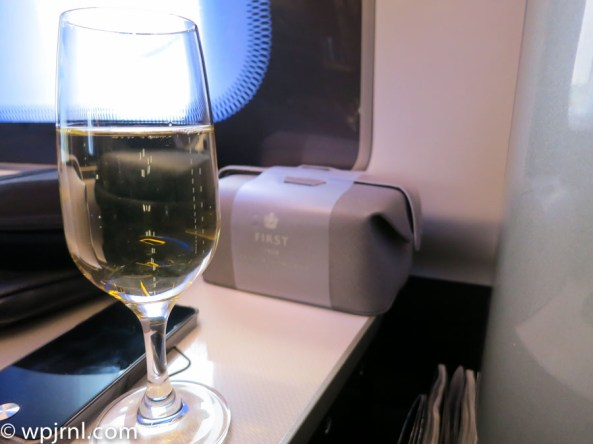 New British Airways First Class London to Miami - Champagne