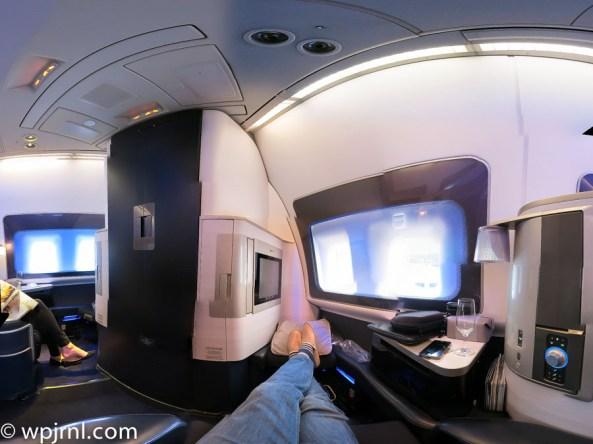 New British Airways First Class London to Miami - Panorama