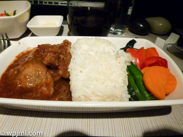 CX710 CMB-SIN Business Class - Beef and Rice