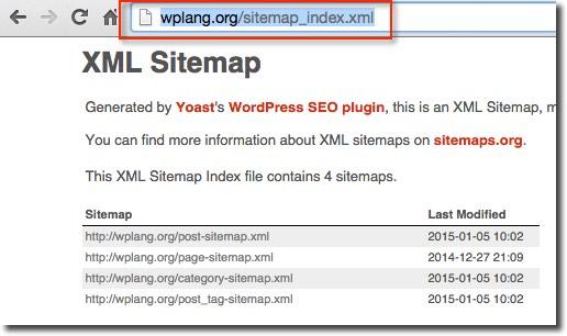fonction sitemap XML