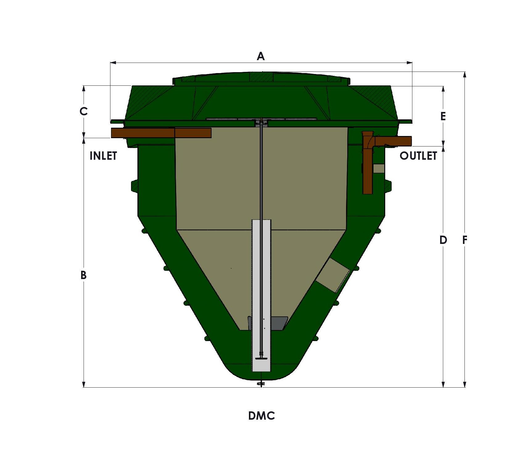 hight resolution of technical drawing of a below ground wpl diamond