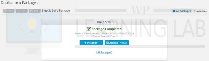 WordPress Duplicator Plugin Build Status