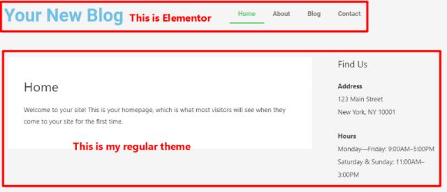 elementer pro theme builder