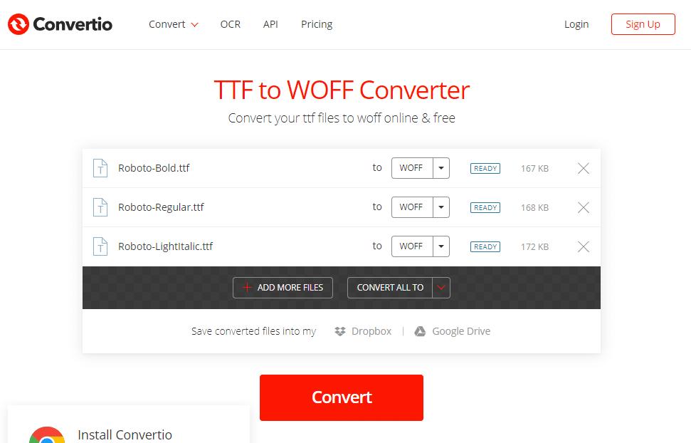 TTF to WOFF converter