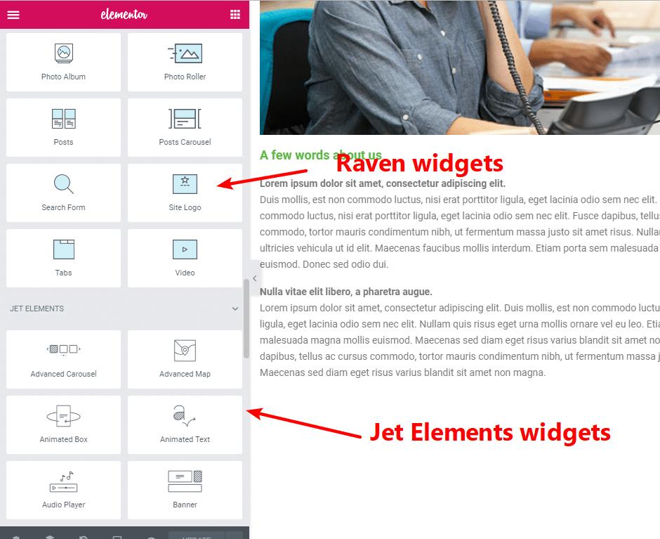 New elementor widgets