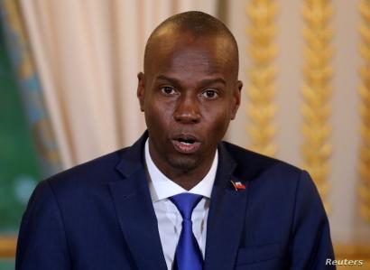 FILE - Haitian President Jovenel Moise